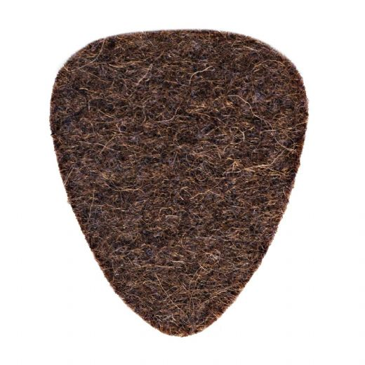 Felt Tones Brown Wool Felt 1 Guitar Pick